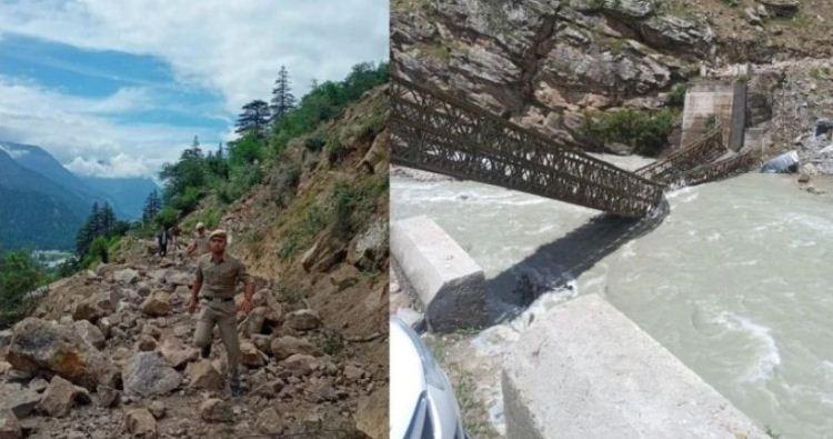 किन्नौर; भूस्खलन की चपेट में आई पर्यटकों की गाड़ी, नौ लोगों की मौत