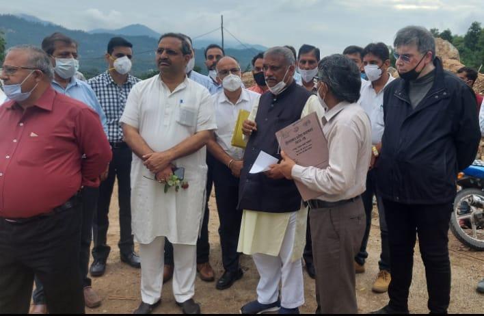 ऊर्जा मंत्री सुखराम चौधरी ने एम्स कोठीपुरा में निमार्णाधीन केवी के सब स्टेशन स्थल का निरिक्षण