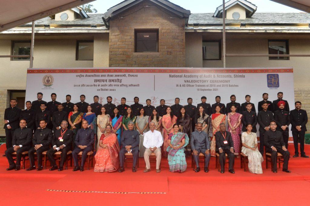भारत के राष्ट्रपति 2018 और 2019 बैच के भारतीय लेखा परीक्षा और लेखा सेवा अधिकारी प्रशिक्षुओं के समापन समारोह में शामिल हुए